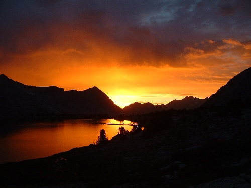 Sunset in Sequoia Kings NP